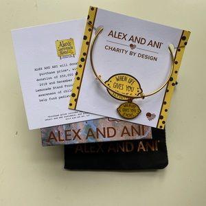 "Alex and Ani ""Life Gives You Lemons"" Bracelet"